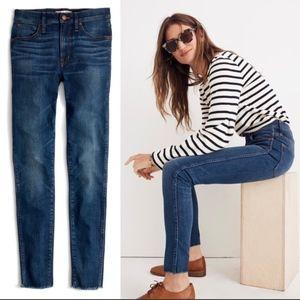Madewell Mom Jeans High Rise Raw Edge Hem